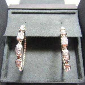 David Yurman Large Confetti Diamond Hoop Earrings